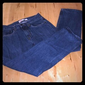 Levis 505, dark blue denim, 28x28, Boys size 16.